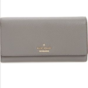 Kate Spade Celina Gray Leather Wallet